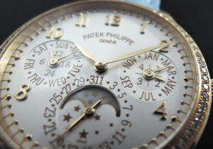 PATEKPHILIPPE レディス・ファースト グランドコンプリケーション 7140R-001 パーペチュアルカレンダー ローズゴールド クロコベルト 自動巻 レディース腕時計 シルバー文字盤 【委託時計】