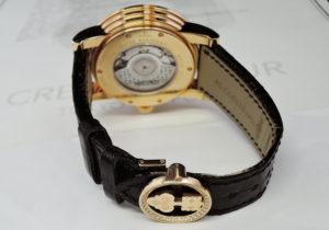 CORUM クラシカル 982.202.85 フライングドラゴン 18K ローズゴールド 自動巻 マザーオブパール リューズダイヤ ベゼルダイヤ バックルダイヤ メンズ腕時計 自動巻 世界限定50本 オーバーホール済