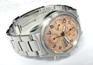 Sinn 356 フリーガーⅡ 自動巻 ピンク文字盤 100m防水 ステンレス メンズ腕時計 プラスティック風防 【委託時計】