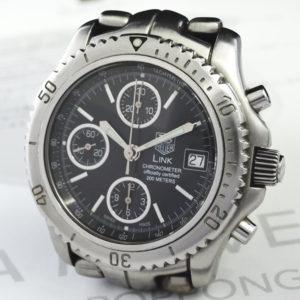 TAG HEUER リンク CT5111 メンズ腕時計 200m 自動巻 クロノグラフ ステンレス 黒文字盤 【委託時計】