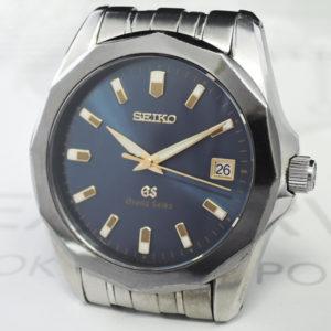 グランドセイコー GRAND SEIKO メンズ腕時計 クオーツ ネイビー文字盤 ステンレス 保証書 【委託時計】