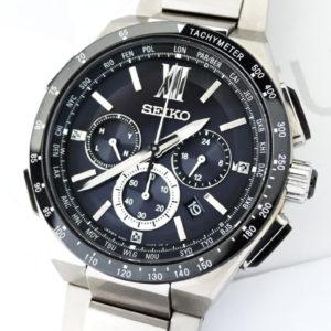 SEIKO ブライツ ラジオウェーブコントロール メンズ腕時計 デイト クロノグラフ ソーラー式 ステンレス×セラミック 【委託時計】