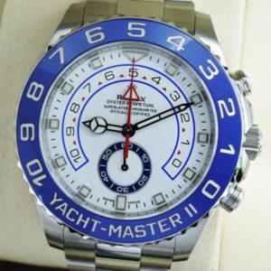 ROLEX ヨットマスターⅡ116680 メンズ腕時計 説明書 タグ 駒 保証書有 2018年 未使用品 【委託時計】