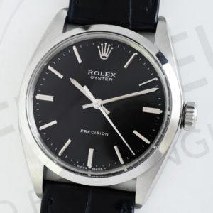 ROLEX オイスタープレシジョン 6694 ステンレス シルバー文字盤 アンティーク 手巻き 新品純正ストラップ メンズ腕時計 日本ロレックス修理 OH済 保証書 【委託時計】