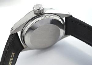 ROLEX オイスターパーペチュアルデイト 6426 手巻き アンティーク ヴィンテージ 腕時計 グレー文字盤 純正革ストラップ 日本ロレックス修理 OH済 保証書 【委託時計】