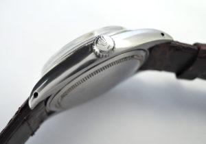 ROLEX オイスターデイト プレシジョン 6694 シルバー文字盤 アンティーク 手巻き ステンレス メンズ腕時計 社外ストラップ 【委託時計】