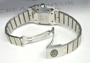 Cartier サントスガルベLM 自動巻 コンビ メンズ 時計 保証書付 【委託時計】