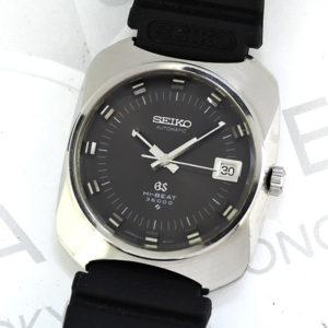 GRAND SEIKO 6145-8020 ハイビート 36000 メンズ 時計 自動巻 黒文字盤 SS 【委託時計】