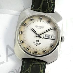 GRAND SEIKO 6146-8020 ハイビート 36000 メンズ 時計 自動巻 シルバー文字盤 SS 牛革ストラップ 【委託時計】
