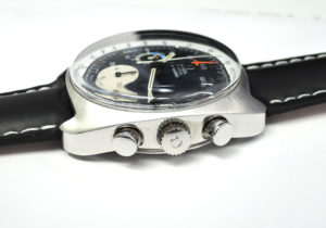 OMEGA シーマスター 176.007 クロノグラフ アンティーク メンズ 時計 デイト 自動巻 青文字盤 【委託時計】