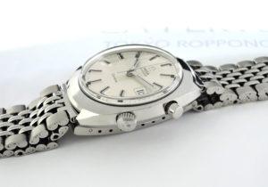 OMEGA クロノストップ デイト ジュネーブ ヴィンテージ メンズ 時計 手巻き シルバー文字盤 【委託時計】
