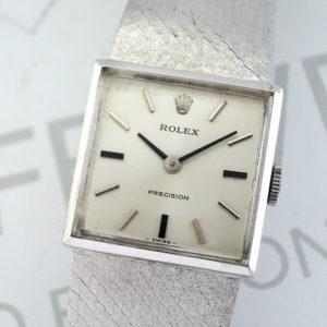 ROLEX プレシジョン シルバー文字盤 アンティーク 手巻き ステンレス レディース 時計 【委託時計】