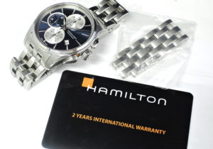 HAMILTON ジャズマスター オートクロノ H32596141 自動巻 青文字盤 保証書有 【委託時計】