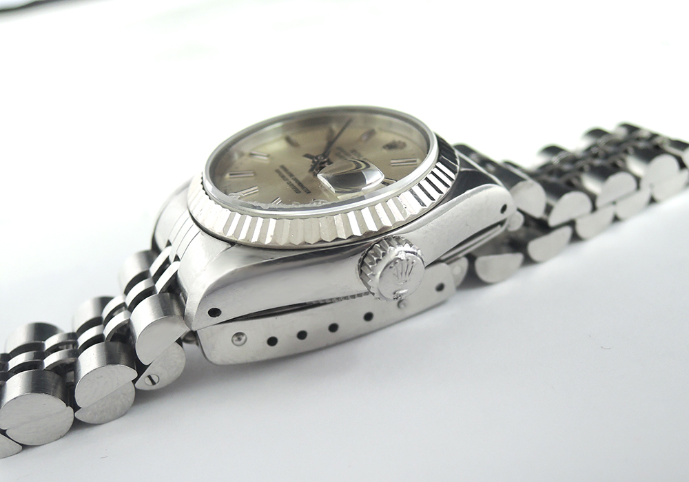 ROLEX デイトジャスト 69174 95~番 WGxSS レディース腕時計 自動巻 シルバー文字盤 【委託時計】