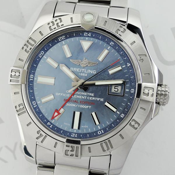 BREITLING アベンジャーⅡ GMT A32390 ブルーシェル 自動巻 メンズ 時計 【委託時計】