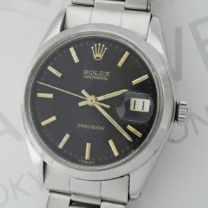ROLEX オイスタープレシジョン 6694 ステンレス 黒文字盤 アンティーク 手巻き メンズ 腕時計 【委託時計】