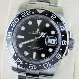 ROLEX GMTマスターⅡ 116710LN ステンレス メンズ 腕時計 保証書 未使用 【委託時計】