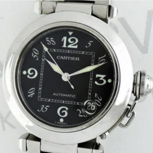 Cartier パシャC 自動巻 腕時計 ボーイズ SS 黒文字盤 【委託時計】