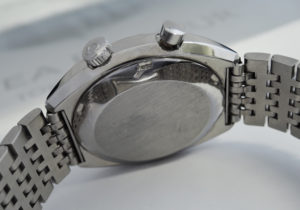 OMEGA クロノストップ ジュネーブ ヴィンテージ メンズ 時計 手巻 ダークブルー文字盤 【委託時計】