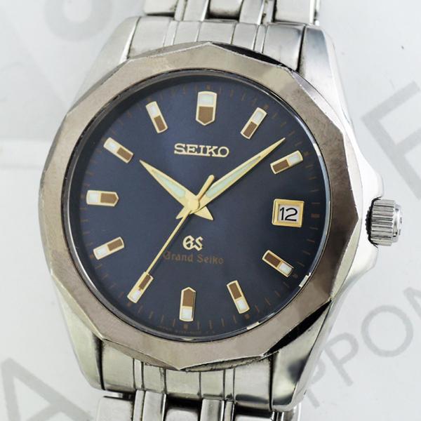GRAND SEIKO 8J56-8000 メンズ腕時計 クオーツ ネイビー文字盤 ステンレス 【委託時計】