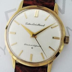 SEIKO ロードマーベル メンズ K18ゴールド 手巻き 腕時計 社外ベルト 【委託時計】
