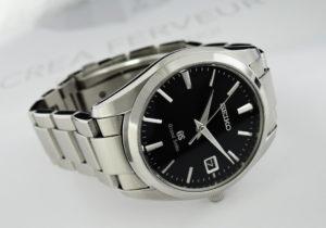 SEIKO グランドセイコー 9F62-0AB0 メンズ 腕時計 クオーツ 黒文字盤 【委託時計】