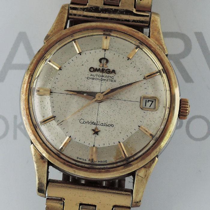OMEGA コンステレーション12角 メンズ腕時計 シャンパン文字盤 SS 自動巻 【委託時計】