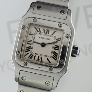 Cartier サントスガルベ SM レディース 腕時計 ステンレス クオーツ 【委託時計】