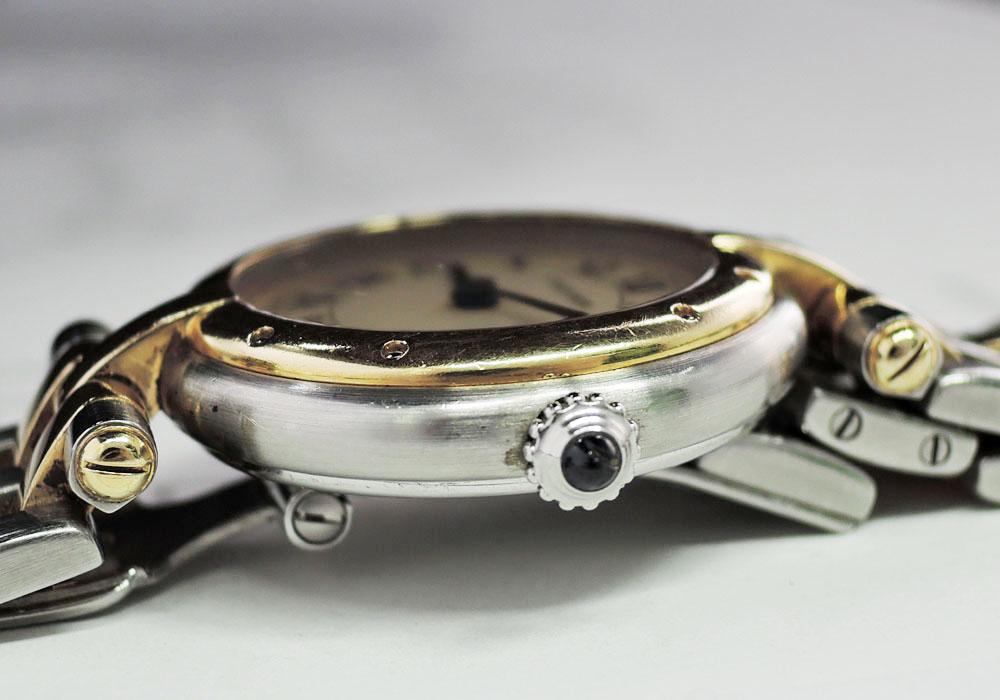 Cartier パンテール ラウンド 2ロウ SS YG クオーツ 腕時計 レディース 【委託時計】