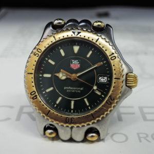 TAG HEUER プロフェッショナル200m WG1226 クォーツ ゴールド グリーン文字盤 メンズ 腕時計 【委託時計】