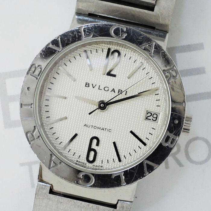 fd308aaf985d ... BVLGARI ブルガリブルガリ BB38SS 自動巻 メンズ 腕時計 シルバー文字盤 【委託時計】 ...