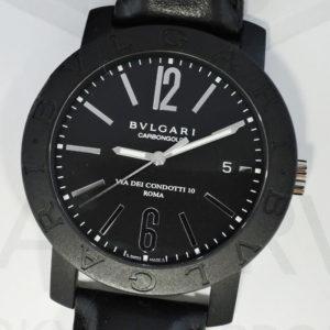 BVLGARI カーボンゴールド BB40CL 自動巻 メンズ 腕時計 ブラック文字盤 ホワイトゴールド 【委託時計】