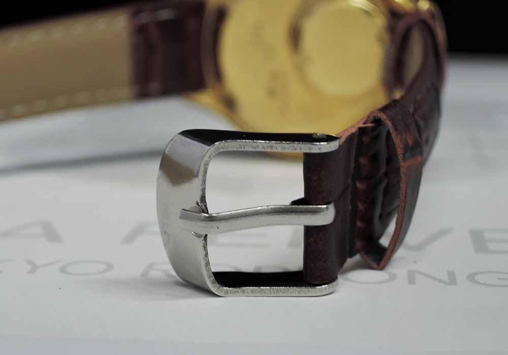 SEIKO 38クオーツ 3823-7000 メンズ 腕時計 シャンパン文字盤 18KYG 【委託時計】