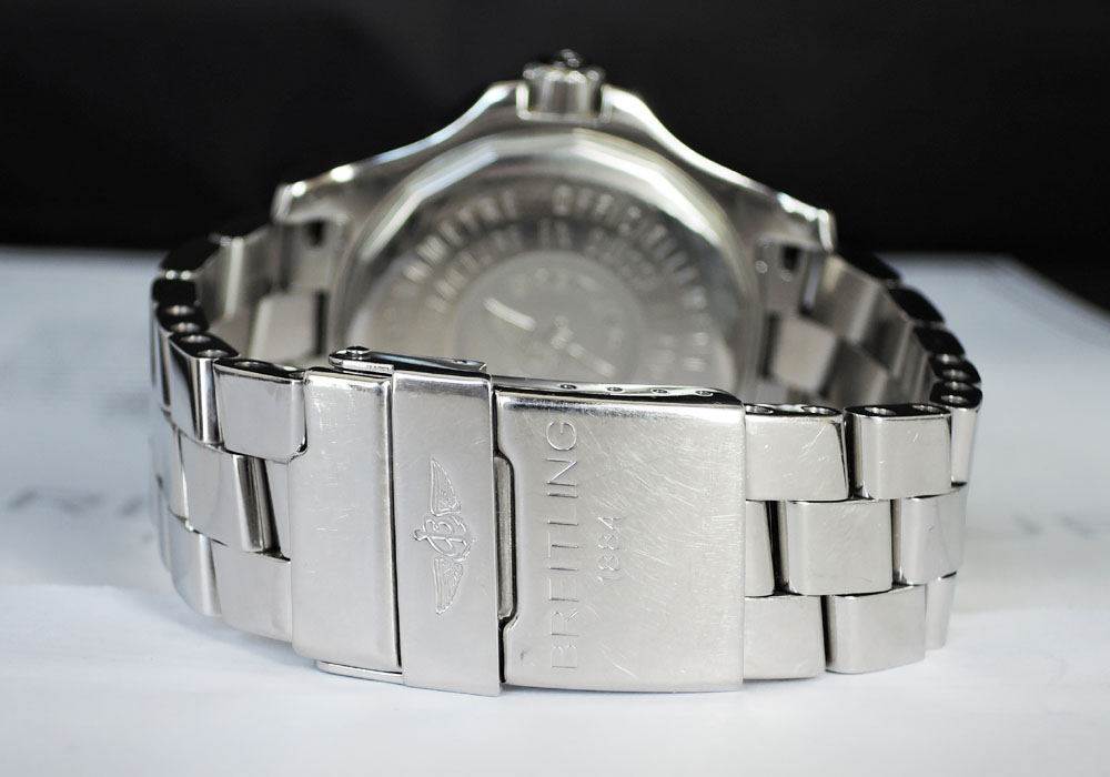 BREITLING コルト オートマチック A17380 クロノグラフ 自動巻 メンズ 腕時計 箱 クロノメーター証明書 説明書 【委託時計】