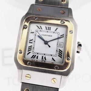 Cartier サントスガルベLM 自動巻 SS/K18YG コンビ ボーイズ 腕時計 【委託時計】