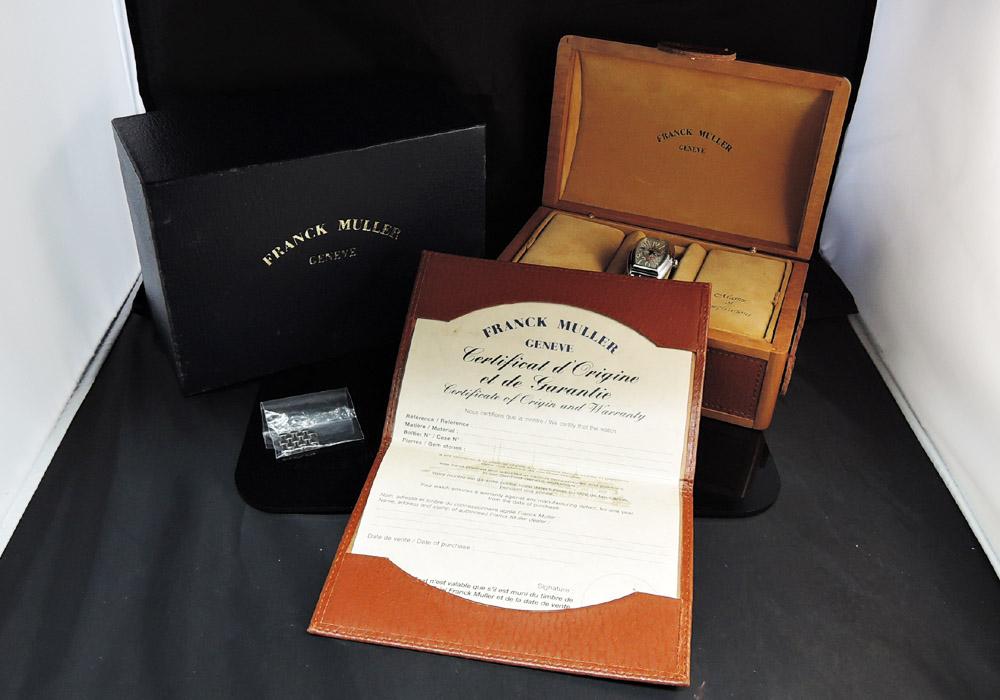 FRANCK MULLER コンキスタドール 8005L シルバー文字盤 SS レディース 自動巻 腕時計 保証書 箱 駒 【委託時計】