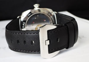 PANERAI ラジオミール ベース 8デイズ アッチャイオ PAM00610 シースルーバック ステンレススチール×レザー 手巻き メンズ 腕時計 保証書 箱 【委託時計】