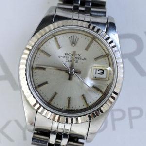 ロレックス ROLEX デイトジャスト 69174 80~番 WGxSS レディース 腕時計 竜頭なし 自動巻 シルバー文字盤 ジャンク IW7403
