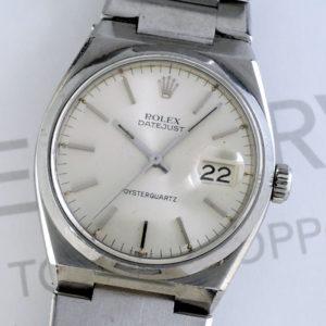 ロレックス ROLEX オイスタークォーツ デイトジャスト 17000 シルバー文字盤 メンズ 腕時計 不動 ジャンク IW7404