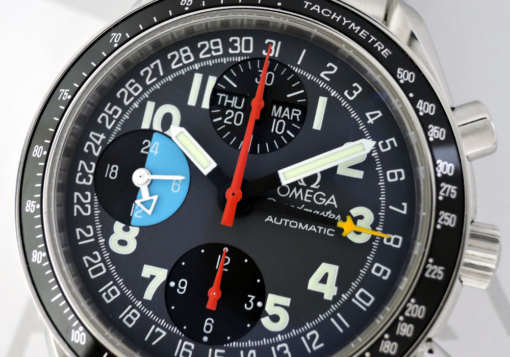 オメガOMEGA スピードマスター マーク40 AM/PM 3520.53 自動巻 SS 黒/グレー文字盤 IW7408