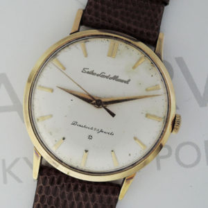SEIKO セイコー 14036 ロードマーベル 彫り文字盤 メンズ 18金 手巻き 腕時計 社外ベルト IW7411