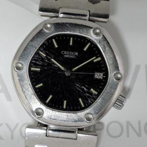 セイコーSEIKO クレドール ロコモティブ ファーストモデル 5932-5020 男性用 腕時計 クォーツ 黒文字盤 SS IW7412