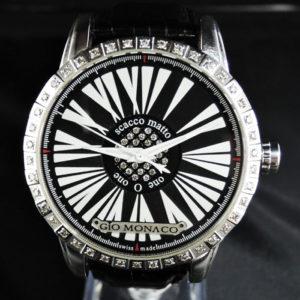 Gio Monaco ジオモナコ ONE O ONE ワンオーワン101 ダイヤベゼル 自動巻 純正革ベルト 500本限定 メンズ 腕時計 保証書 IW7415