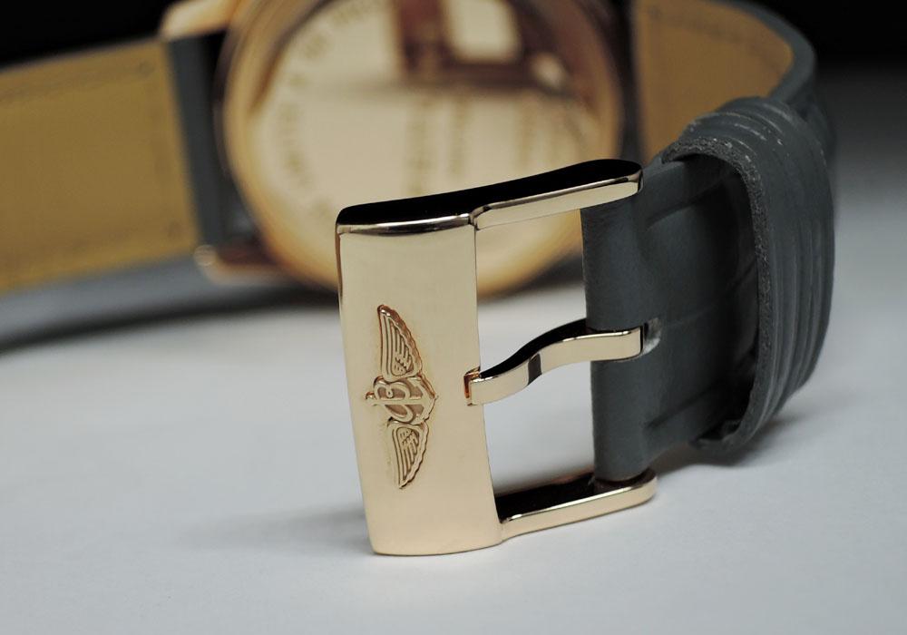 BREITLING ナビタイマー ストラトス R33350 メンズ K18ローズゴールド 腕時計 保証書 箱 限定書 純正ベルト【限定50本】  【委託時計】