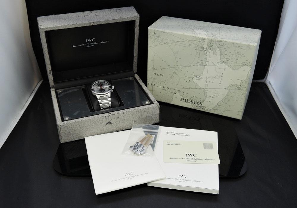 IWC×PRADA GSTクロノ IW370802 オートマチック SS メンズ 腕時計 保証書 2000本限定 【委託時計】