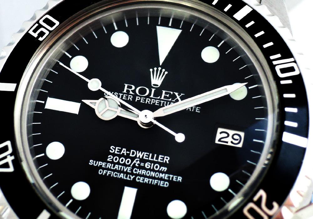 ロレックス ROLEX 初代シードゥエラー Ref.1665 アンティーク ヴィンテージ 2018年修理 黒文字盤 CF7546