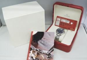 オメガOMEGA シーマスター プロフェッショナル300 2265.80 青文字盤 メンズ 腕時計 クォーツ 保証書 箱 CF7558
