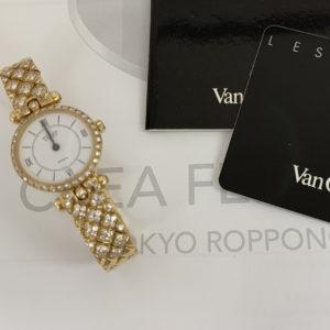 Van Cleef & Arpels ヴァンクリーフ&アーペル 18901B1 ラ コレクション クオーツ YG 不動 保証書 IT7566