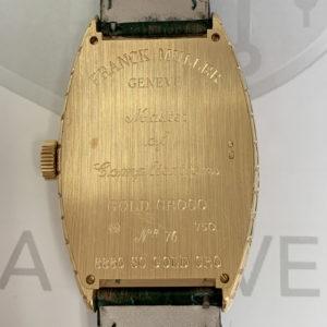 フランクミュラー FRANCK MULLER トノーカーベックス 8880SCGOLDCRO ゴールドクロコ 自動巻 K18PG 保証書 J4890