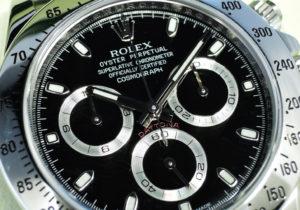 ロレックス ROLEX 116520 DAYTONA コスモグラフ デイトナ V番 自動巻 黒文字盤 保証書 サービス証明書 完品 IT7581